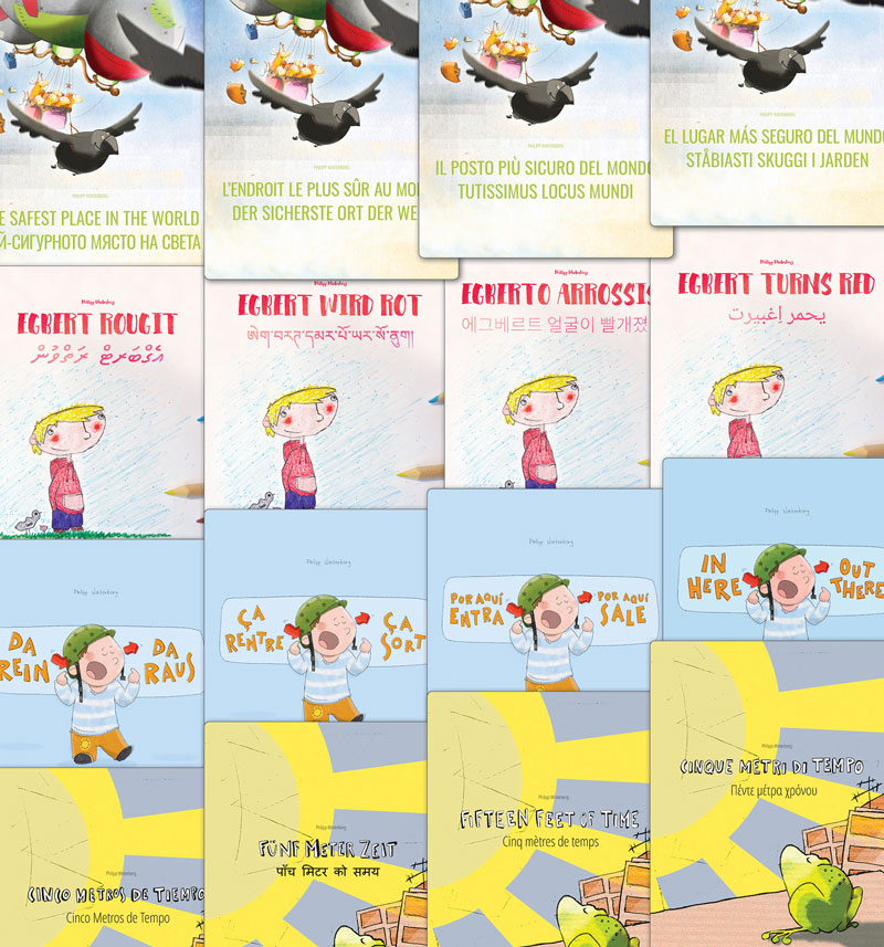 Books: 'Egbert Turns Red', 'In Here, Out There!' ...